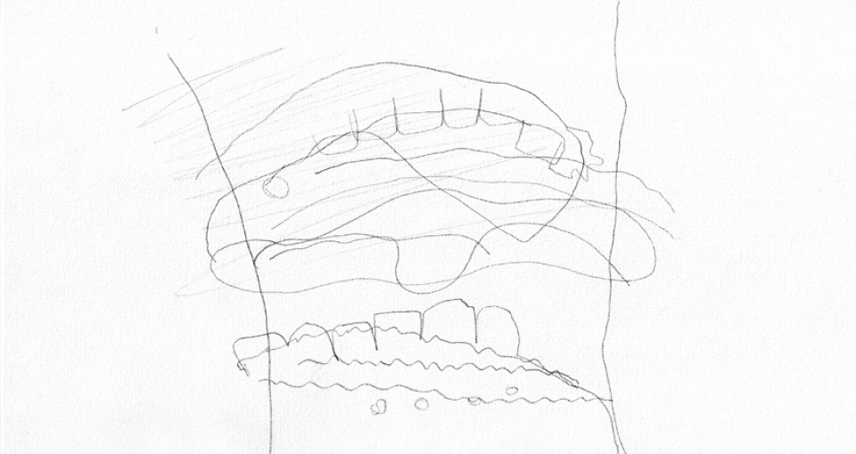 Participant's drawing with eyes closed
